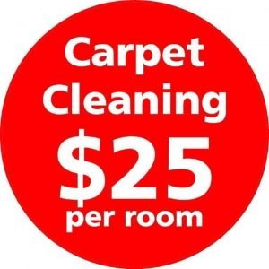 Carpet Cleaning $25 per room
